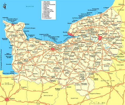 Carte Normandie Michelin by Cartograf Fr Les R 233 Gions De La Basse Normandie