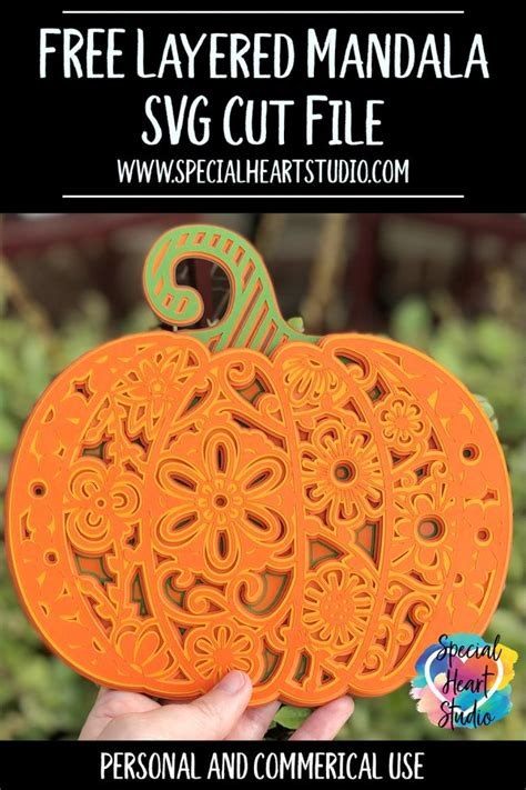 The cooler temperatures will be nice, and it will be fun to rake up piles of leaves for my daughter to play in. FREE LAYERED PUMPKIN MANDALA SVG - SPECIAL HEART STUDIO