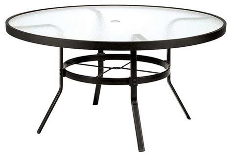 round glass top outdoor table winston 48 in obscure glass top round patio dining table