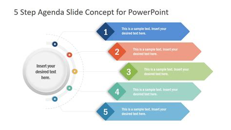 step agenda  concept powerpoint template slidemodel