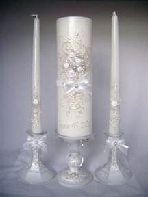candles wedding wedding unity candle set in white grey and blush pink 3 candles and 2 candleholders