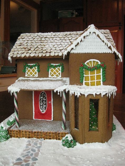 Old New England Gingerbread House - CakeCentral.com