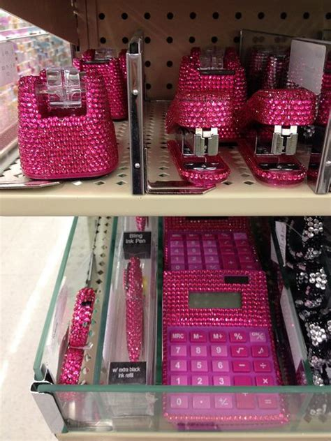 Girly Office Desk Accessories by Sparkly Pink Office Supplies I The Stapler And