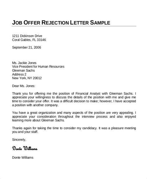 sample job offer letter  examples  word