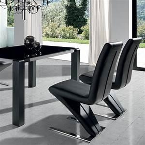 Chaise Noire Design : chaise design blanche ou noire en pu reims ~ Teatrodelosmanantiales.com Idées de Décoration