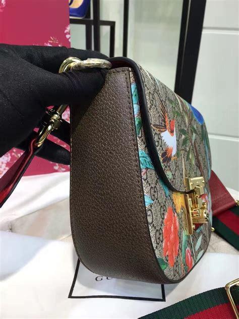 cheap  aaa quality gucci padlock gg supreme shoulder bag  fb designer
