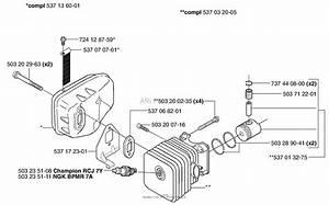 Husqvarna 323 Hd60  2002  Cylinder    Muffler