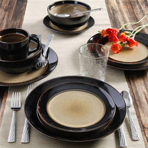 dinner dishes dinnerware plates kitchen stoneware round piece