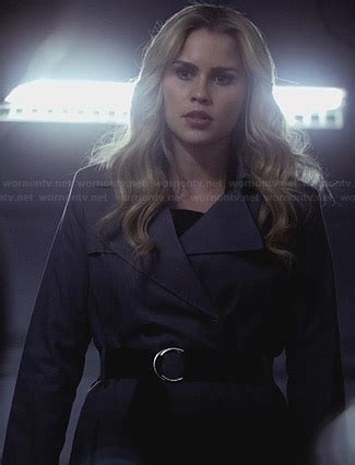 WornOnTV: Rebekah's grey belted trench coat on The ...