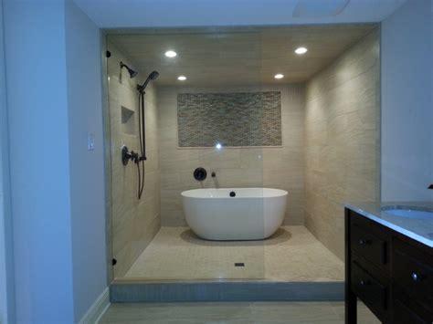 wet room contemporary bathroom tampa