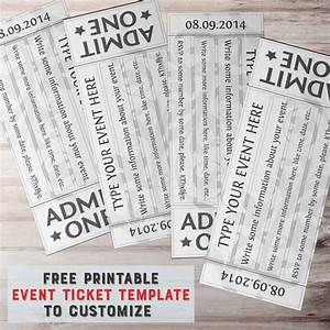 Free Ticket Design Free Printable Event Ticket Template To Customize