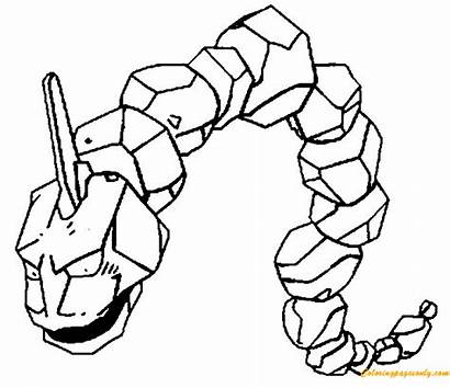 Onix Pokemon Pages Coloring