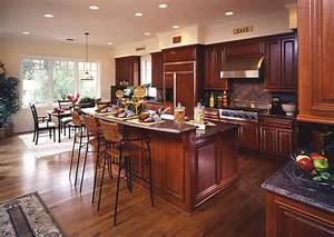 hardwood floors in kitchens pictures cherry cabinets