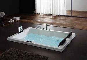 hs bc667 2 person jetted double whirlpool bathtubs with tv With consideration in buying suitable two person bathtub