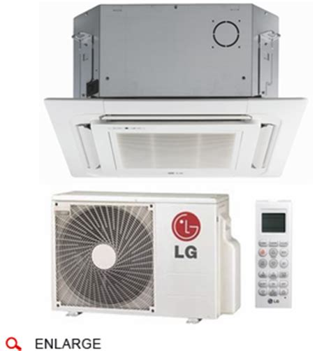 lg ceiling cassette mini split lg lc127hv4 ceiling cassette single zone ductless mini
