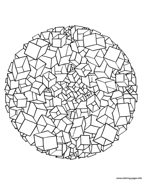 mandala to color free mandala to color cubes 3d coloring pages printable
