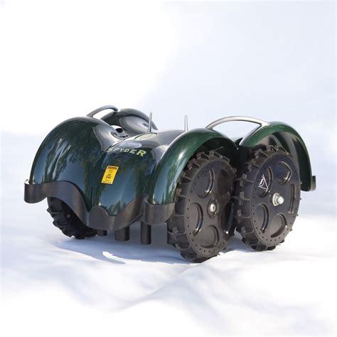 robot lawn mower lawnbott spyderevo robotic lawn mower the green