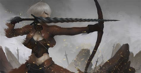 female archer full hd wallpaper  background image