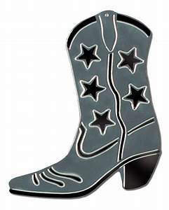 """Silver Foil Cowboy Boot Silhouette 16"""" - Party Packs"""