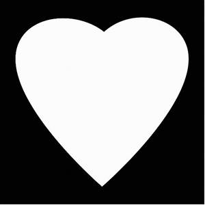 Black and White Love Heart Design. Photo Cut Out | Zazzle