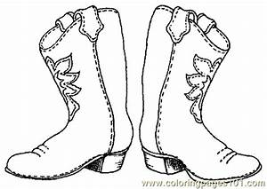 Printable cowboy boots Template | free printable coloring ...