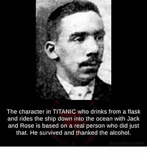 The Character in TITANIC Who Drinks From a Flask and Rides ...