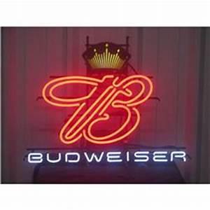 Vintage B Crown Budweiser Beer Neon Sign