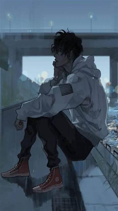 Sad Anime Wallpapers Boy Phone Depressing Aesthetic