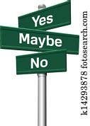 decision choice future direction arrows road sign clip art
