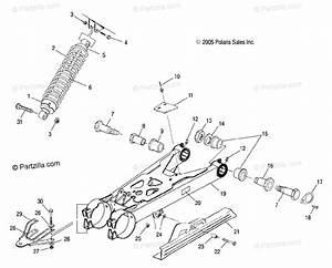 Polaris Atv 2006 Oem Parts Diagram For Swing Arm  Shock