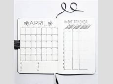 Monthly Log Inspiration Bullet Journal