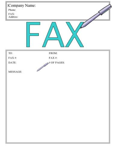 write this fax cover sheet at freefaxcoversheets net