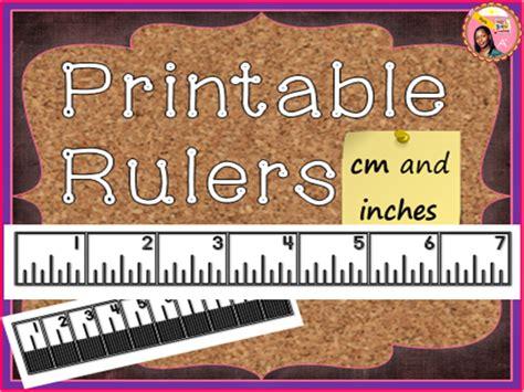 printable rulers teaching resources