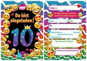 Kindergeburtstag 10 Jahre Mädchen : einladung kindergeburtstag einladungskarten smiley emoji lustig jungen m dchen eur 5 99 ~ Frokenaadalensverden.com Haus und Dekorationen