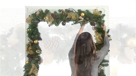how to hang garland around front door garland hangers christmas decoration improvements catalog youtube