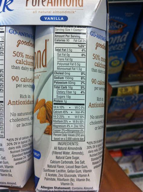 Silk Almond Milk Ingredients