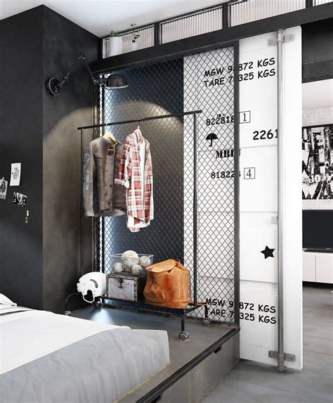 Small Modern Industrial Apartment by Small Modern Industrial Apartment Decoration Ideas 23
