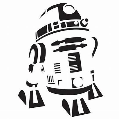 Wars Star Pumpkin Stencil Silhouette Template R2