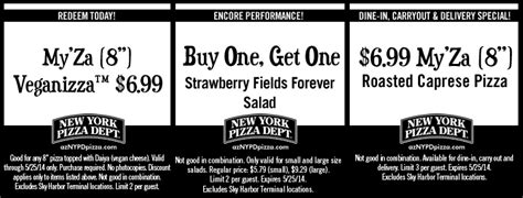 72566 Nypd Pizza Coupons by Coupons New York Pizza Dept