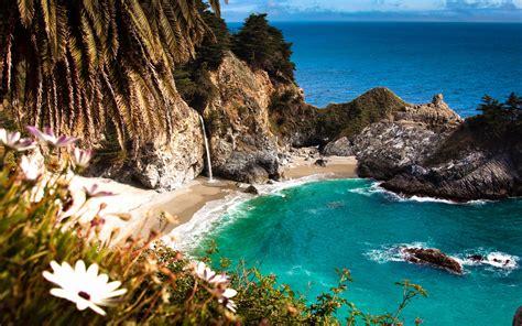 Mcway Falls Cove California Usa World Beach Guide