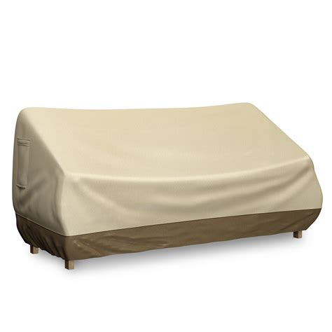 Outdoor Loveseat Cover bench cover for outdoor loveseat or patio sofa fits
