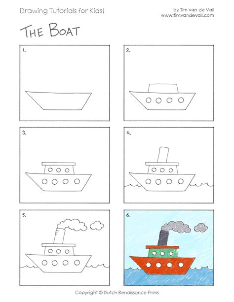 How To Draw A Boat Paper by Draw A Boat Tim S Printables