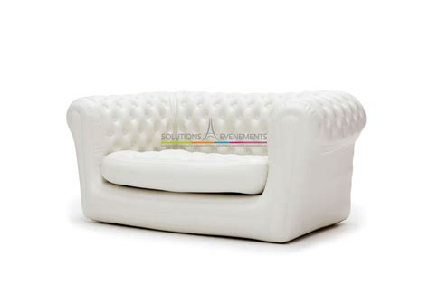 canapé solution location de canape chesterfield gonflable blanc