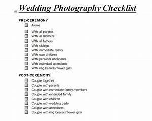 wedding planner wedding checklist doc With wedding photography checklist template