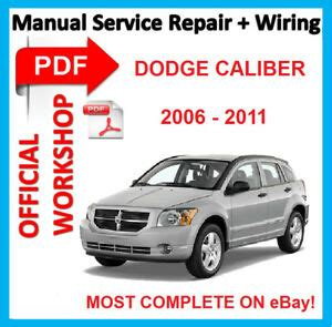 free car manuals to download 2011 dodge caliber electronic throttle control official workshop manual service repair for dodge caliber 2006 2011 ebay