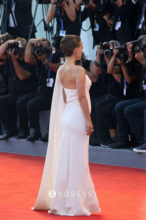 Natalie Portman White One Shoulder Formal Dress - Xdressy