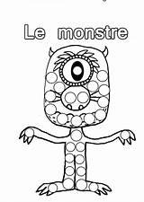 Halloween Coloriage Monstre Les Bingo Grand Format Bricolage Tableau Des Sur Imprimer Allthingscdr Just5 sketch template