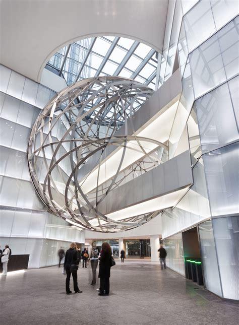 deutsche bank steel sphere  frankfurt idesignarch