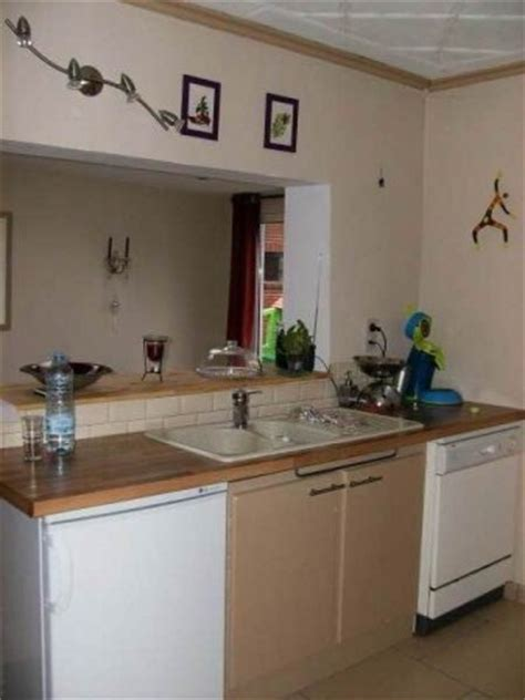 chambre dans salon la cuisine photo 2 3 vue sur le living le mur a été
