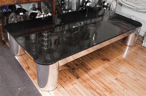 furniture white granite top coffee table with